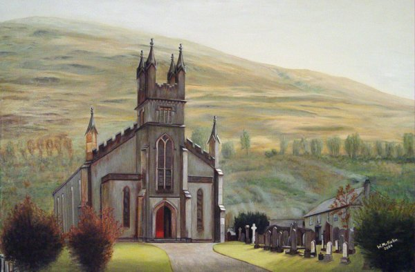Arrochar Parish Church - A Painting by W. McFarlin 2004