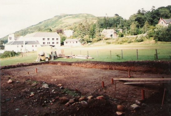New pavillion being built 1982