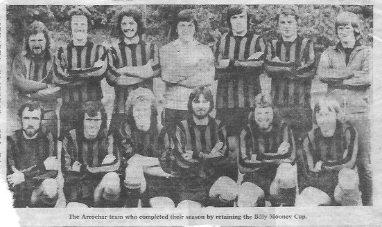 Arrochar Football Club retaining the Billy Mooney Cup in 1978