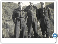 Tommy Lindsey, Jock MacKenzie and Arthur Ross at the post below the Cairn