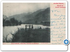 Ardlui Hotel, Head of Loch Lomond - Glen Falloch, with Ben Voirlich in distance D.M.Filshill