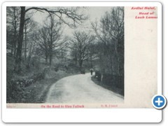 Ardlui Hotel, Head of Loch Lomond - On The Road to Glen Falloch D.M.Filsbill