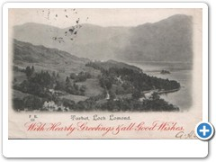Tarbet, Loch Lomond with hearty greetings