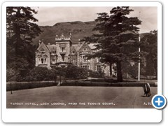 Tarbet Hotel, Loch Lomond, from the tennis court A.9295.