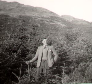 John Keenleyside on his first visit to Ardgarten with a student group in 1951