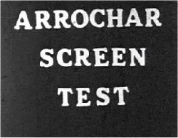 Arrochar Screen Test - Cast