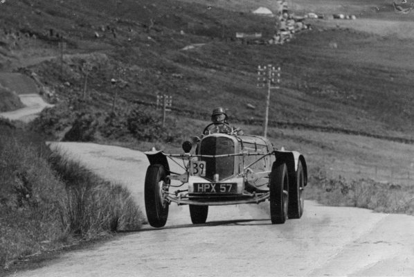 Jimmy MacTavish in a car rally on the Rest And Be Thankful in 1958