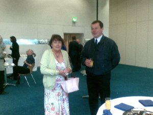 Mary Haggarty and Jamie MacTavish at the Nationside Heritage & Community Award ceremony at Holyrood in July 2008