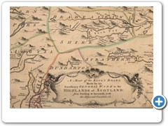 1746 - Thomas WILLDEY - A map of the King's Roads, Made by his Excellency General Wade in the Highlands of Scotland