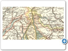 1892 - John G. BARTHOLOMEW - Tourist's map of Scotland... showing the new county boundaries